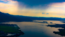 Gewitterwolken über dem Obersee (ZH)
